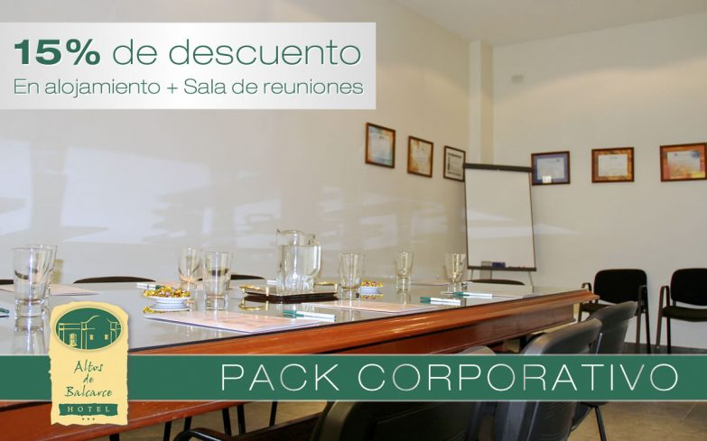 Hotel Altos de Balcarce - Pack Corporativo