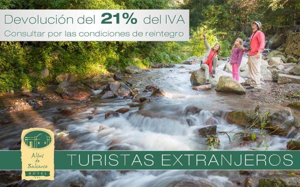 Hotel Altos de Balcarce - Beneficio para turistas extranjeros