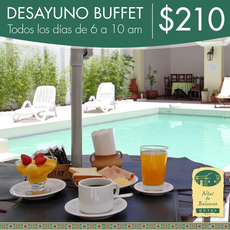 Hotel Altos de Balcarce - Desayuno Buffet
