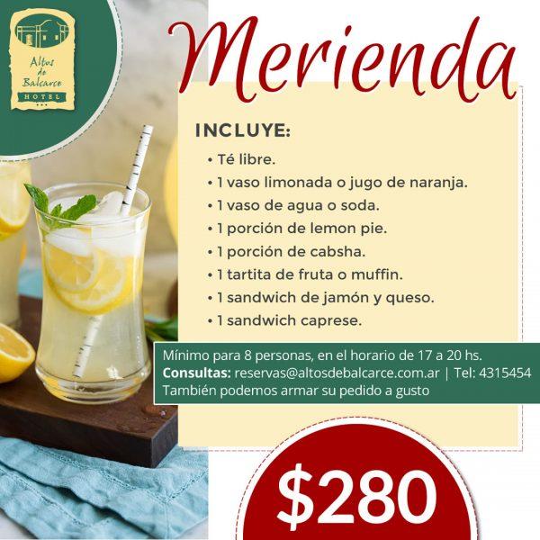 Promo meriendas - limonada